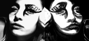Wild Woman and Eagle Eyes in the Mirror - Which side of the mirror is better?